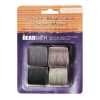 Beadsmith S-Lon Superlon Tex 210 Bead Cord Color - Cool Neutrals