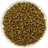 Miyuki Round Seed Beads Size 8/0 DURACOAT Opaque Yellow Olive