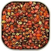 "Czech SuperDuo Two-hole Beads 5.5x2.5mm ""Marmelade"" Mix 24GM"