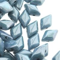GemDUO 2-Hole beads 8x5mm 10GM - Chalk Blue Luster