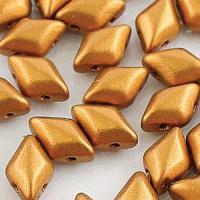 GemDUO 2-Hole beads 8x5mm 10GM - Bronze Gold