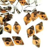 GemDUO 2-Hole beads 8x5mm 10GM - Backlit Peach