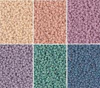 Miyuki Round Seed Beads Size 11/0 Matte Fancy Frosted Combo
