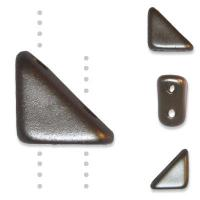 Czech Tango 2-hole Beads 6mm Triangle Cocoa Airy Pearl 9g