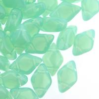 GemDUO 2-Hole beads 8x5mm 10GM - Aqua Opal Green