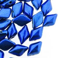 GemDUO 2-Hole beads 8x5mm 10GM - Metalust Crown Blue