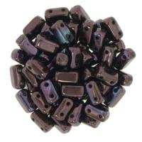 Brick Beads 2-Hole 3 x 6mm 50pcs - Luster Metallic Amy