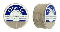 One-G Beading Thread 50YD Bobbin Brown