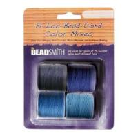 Beadsmith S-Lon Superlon Tex 210 Bead Cord Color Mx - Blue Tones