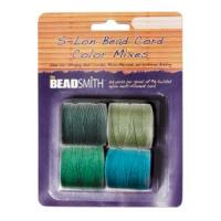 Beadsmith S-Lon Superlon Tex 210 Bead Cord Color Mix - Evergreen