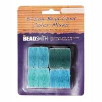 Beadsmith S-Lon Superlon Tex 210 Bead Cord Color Mix - Marine