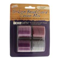 Beadsmith S-Lon Superlon Tex 210 Bead Cord Color Mx - Plum Crazy