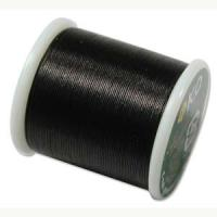 KO Japanese Nylon Beading Thread 50M, Black