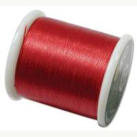 KO Japanese Nylon Beading Thread 50M, Rich Red