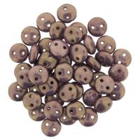 Lentil Beads 2-Hole 6mm - Punch 50pcs