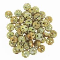 Lentil Beads 2-Hole 6mm - Pistachio 50pcs