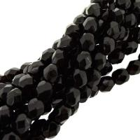 Fire Polished Faceted 4mm Round Beads 100pcs - Garnet