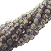 Fire Polished Faceted 4mm Round Beads 100pcs - LS Amethyst