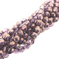 Fire Polished Faceted 4mm Round Beads 100pcs - Bronze Illusion