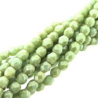 Fire Polished Faceted 4mm Round Beads 100pcs - Stardust Op Pl Tq