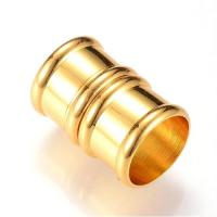Kumihimo End Cap / Magnetic Clasp 21mm Gold (2 Sets) 12mm hole