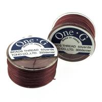 One-G Beading Thread 50YD Bobbin Burgandy