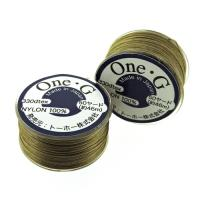 One-G Beading Thread 50YD  Bobbin Sand Ash