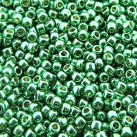Seed Beads Round Size 11/0 28GM PermaFinish Galvanized Spearmint