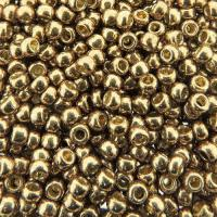 Seed Beads Round Size 8/0 PermaFinish Galvanized Almond 27GM