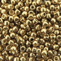 Seed Beads Round Size 8/0 27GM PermaFinish Galvanized Champagne