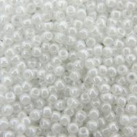 Seed Beads Round Size 11/0 28GM Opaque Lustered White