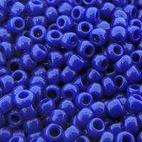 Seed Beads Round Size 8/0 Opaque Royal Blue 28GM 8-48