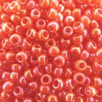 Seed Beads Round Size 8/0 28GM Opaque Pumpkin Rainbow
