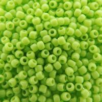 Seed Beads Round Size 11/0 28GM Opaque Sour Apple