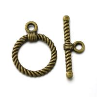 Toggle Clasp Round 22x17mm 10 Sets Antique Bronze