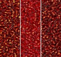 Miyuki Delica Seed Beads 11/0 Combo: Silver Lined Fire