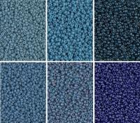Miyuki Round Seed Beads Size 11/0 Denim Collection