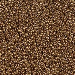 Miyuki Round Seed Beads 15/0 Metallic Light Bronze 8.5GM