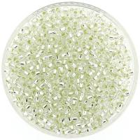 Miyuki Round Seed Beads Size 8/0 Silver Lined Crystal 22GM