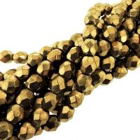 "Fire Polished Faceted 6mm Round Beads 6""str - Bronze"