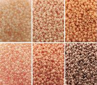 Miyuki Round Seed Beads Size 11/0 Peach Blush Collection