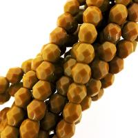 "Fire Polished Faceted 6mm Round Beads 6""str - Goldenrod"