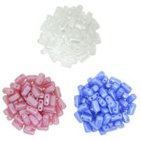 3 Colors:  Brick Beads 2-Hole - Pearl White, Pink & Lt Blue