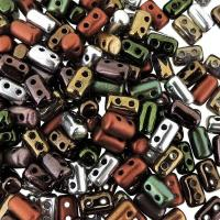 Czech Rulla Beads 3x5mm  Metallics Mix 8GM