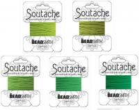 5 Packs Beadsmith Soutache Braided Rayon Cord/Trim - Green Mdley