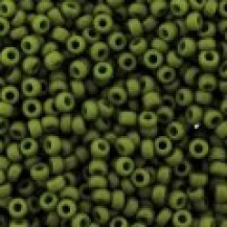 Miyuki Round Seed Beads Size 11/0 Special Dyed Olive Green 23GM